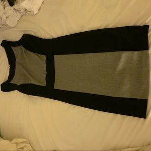Black and gray work dress